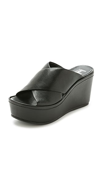 Shop Belle by Sigerson Morrison online and buy Belle By Sigerson Morrison Deka Platform Wedge Sandals Black shoes online