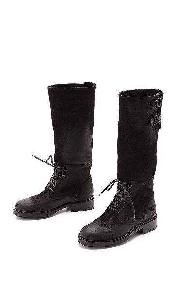Belstaff Waxey Suede Boots