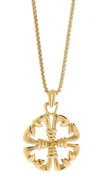 Ben-Amun Emblem Pendant Necklace