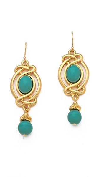 Ben-Amun Turquoise Drop Earrings