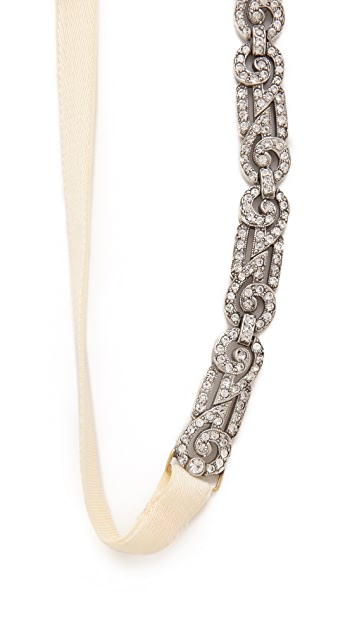 Ben-Amun Crystal Interlock Headband