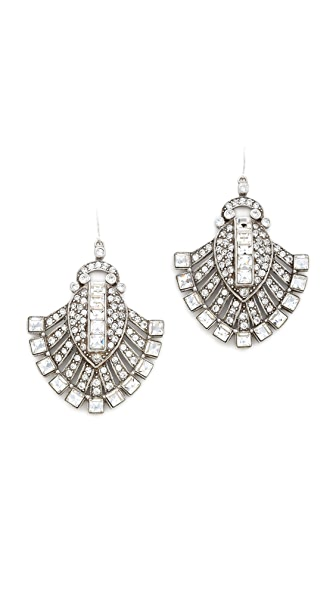 Ben-Amun Fanned Crystal Earrings