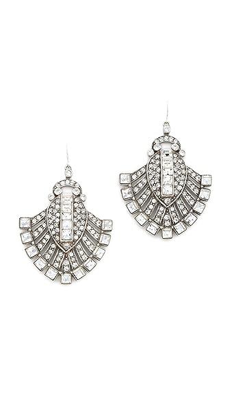 Ben-Amun Fanned Crystal Earrings