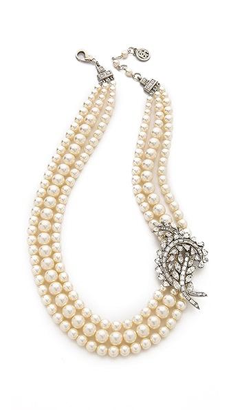 Ben-Amun Crystal Imitation Pearl Necklace