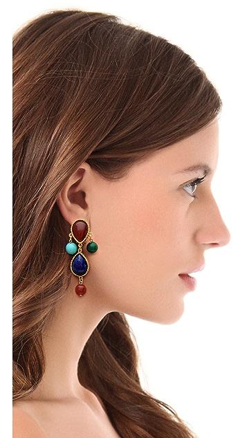 Ben-Amun Colorful Stone Earrings