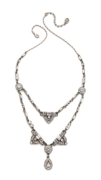 Ben-Amun Deco Crystal Necklace