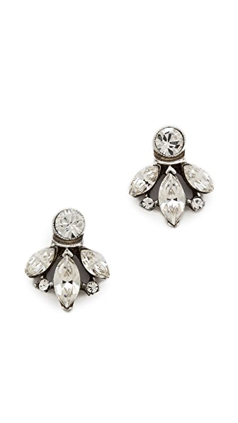 Ben-Amun Crystal Stud Earrings
