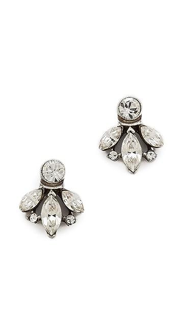Ben-Amun Crystal Stud Earrings