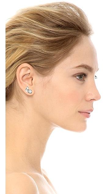 Ben-Amun Asymmetrical Crystal Earrings