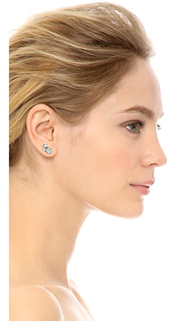 Ben-Amun Asymmetrical Statement Crystal Earrings