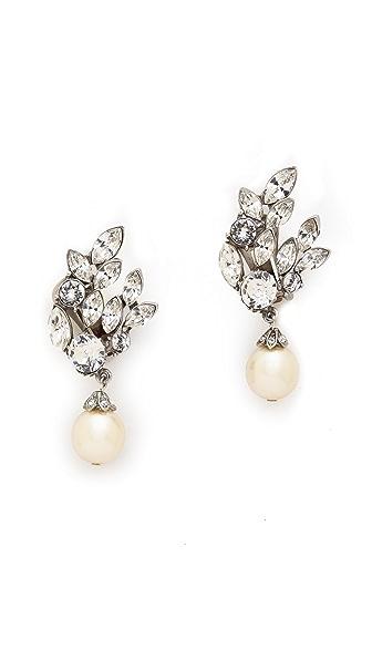 Ben-Amun Crystal Imitation Pearl Earrings