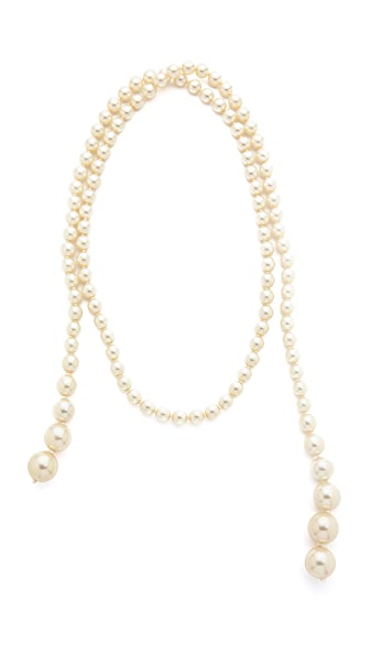 Ben-Amun Imitation Pearl Knot Necklace