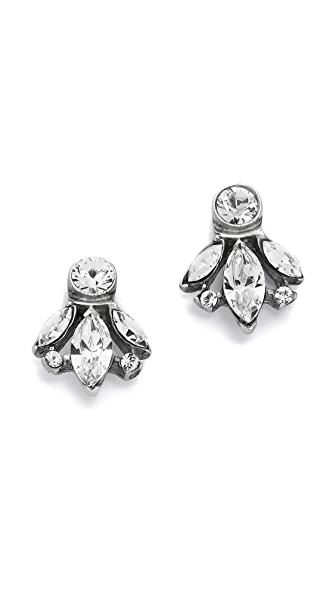 Ben-Amun Crystal Trio Stud Earrings