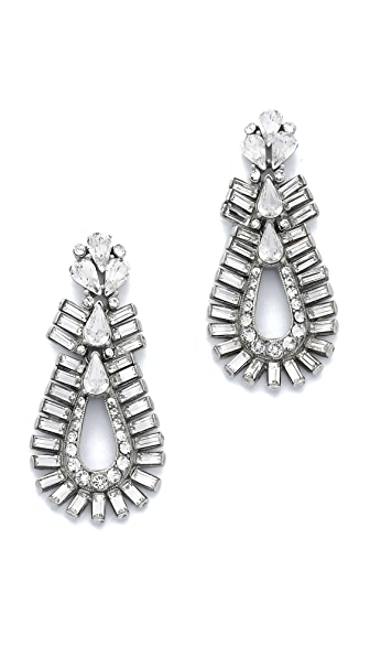 Ben-Amun Crystal Statement Baguette Earrings