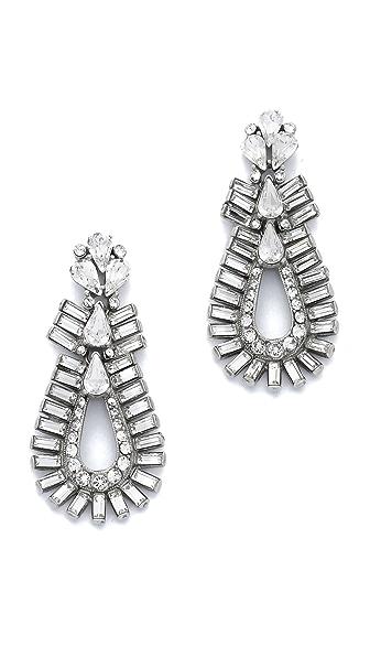 Ben-Amun Crystal Statement Baguette Earrings
