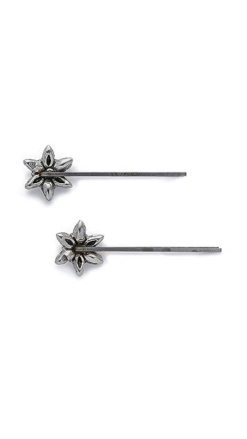 Ben-Amun Crystal Flower Hair Pin Set