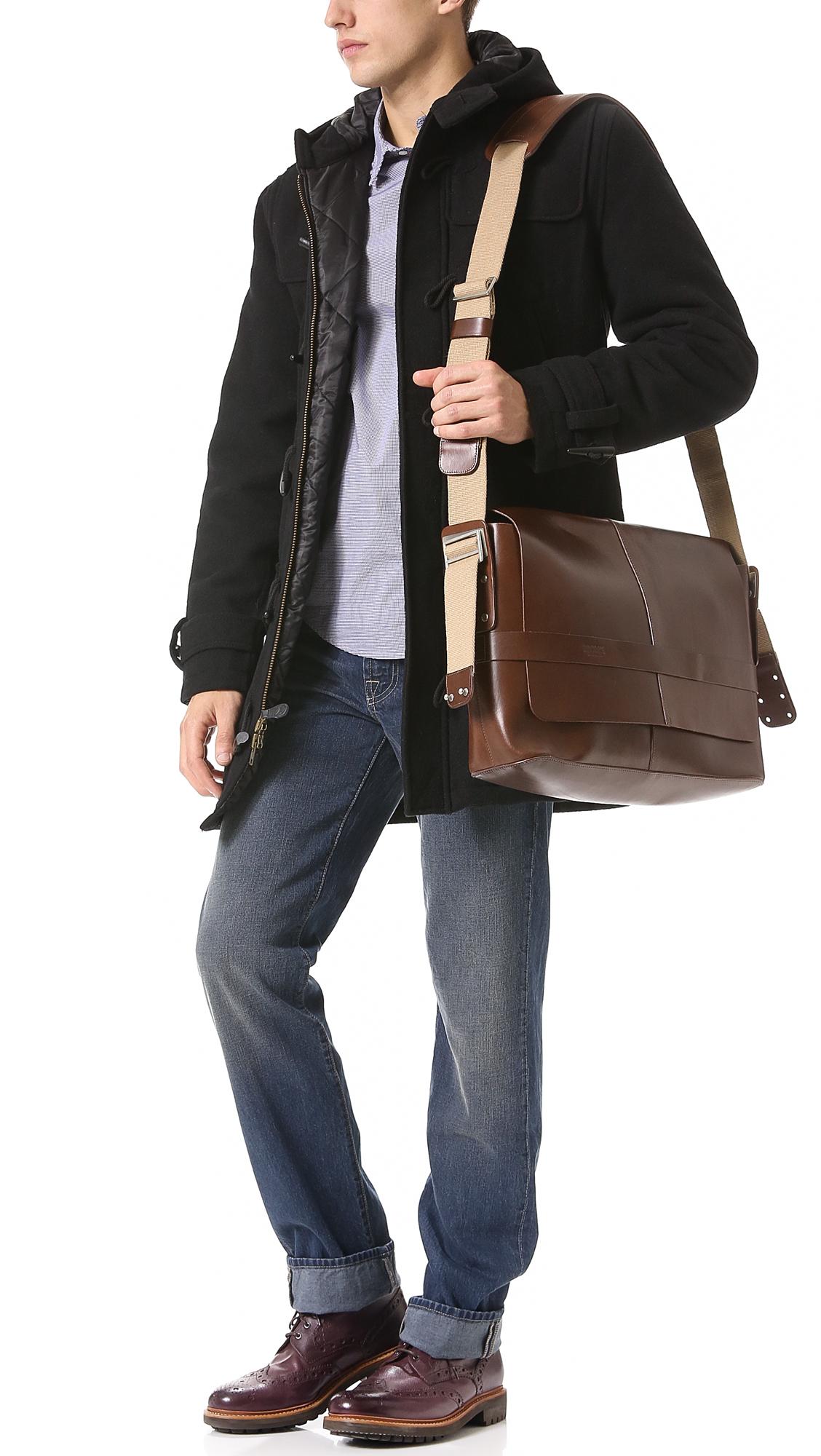 48854b4352c Brooks England Barbican Leather Messenger Bag   EAST DANE