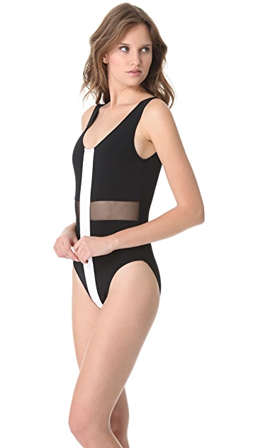 Beth Richards Large Cross One Piece Swimsuit