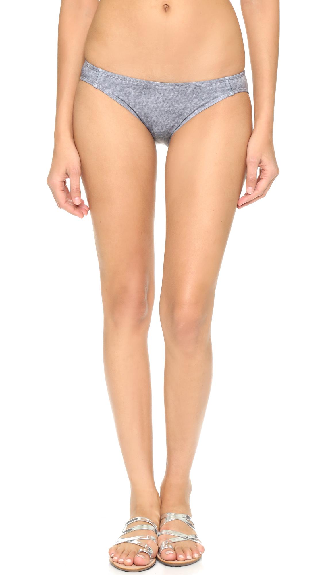Beth Richards Naomi Bikini Bottoms - Grey Heather