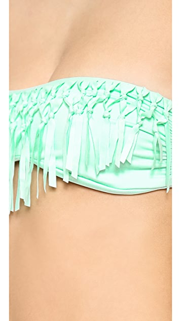 Bettinis Too Haute to Handle Fringe Bikini Top