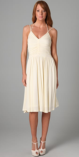 Beyond Vintage V Neck &-39-70s Halter Dress - SHOPBOP