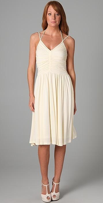 Beyond Vintage V Neck '70s Halter Dress