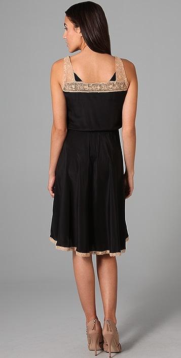 Beyond Vintage Contrast Lace Yoke Dress
