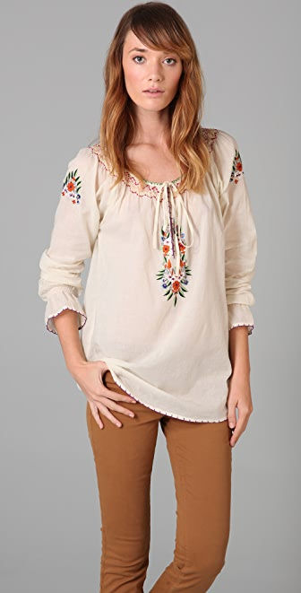 Beyond Vintage Embroidered Blouse