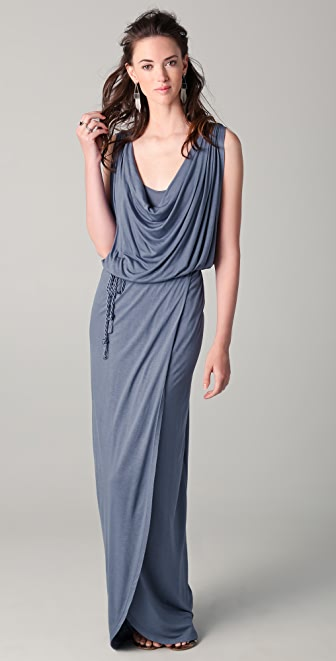 Beyond Vintage Cowl Neck Maxi Dress