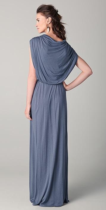 Beyond Vintage Cowl Neck Maxi Dress