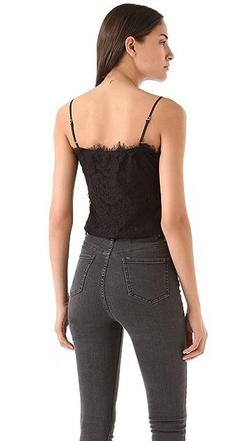 Beyond Vintage Mitered Lace Bodysuit