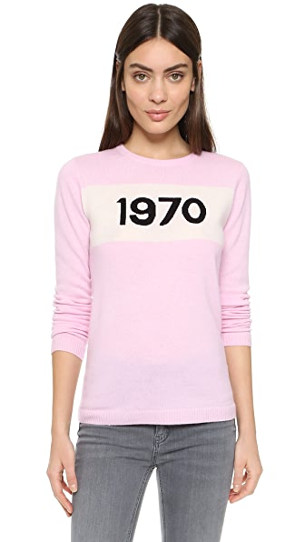 Cashmere 1970 Printed Sweater, Pink