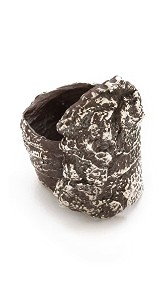 Brooklyn Heavy Metal Bark Tower Ring