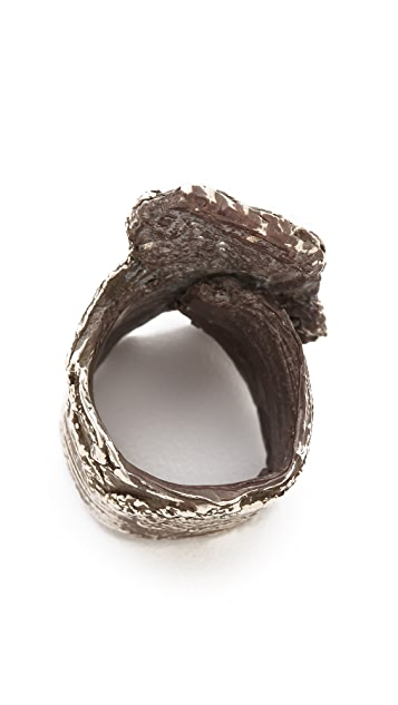Brooklyn Heavy Metal Bark Tower Ring
