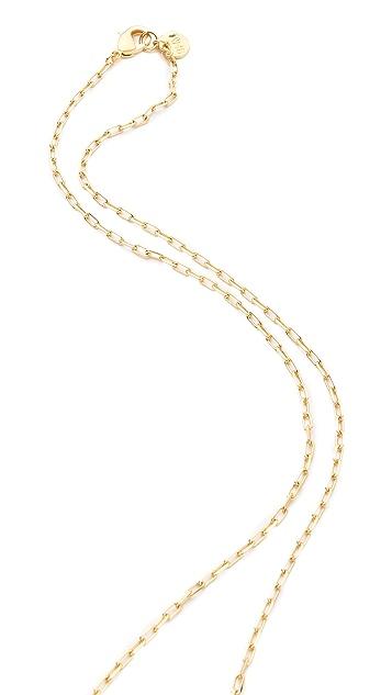 Brooklyn Heavy Metal Bark Necklace