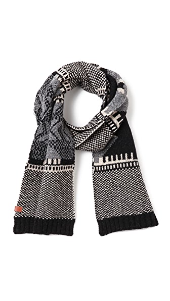 Bickley + Mitchell Lambswool Pattern Scarf