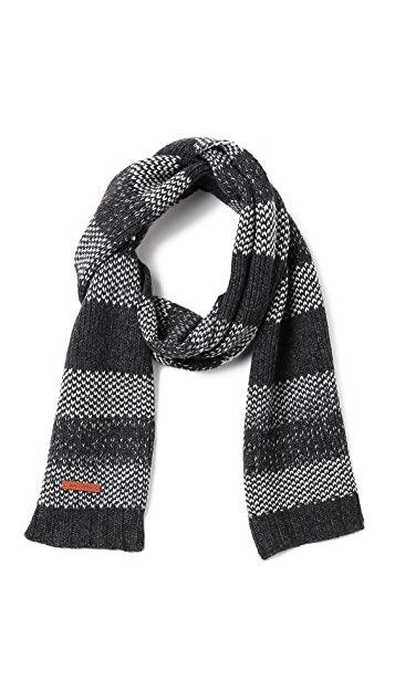 Bickley + Mitchell Lambswool Stripe Scarf