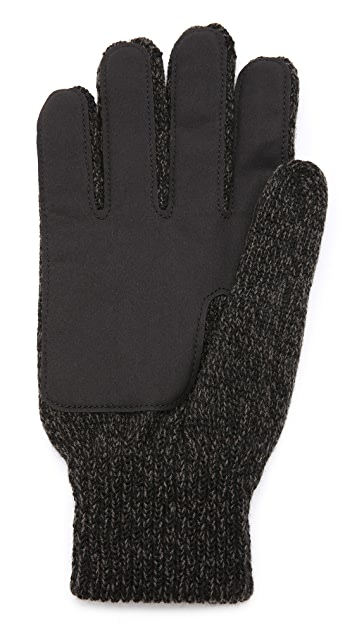 Bickley + Mitchell Faux Leather Detail Gloves
