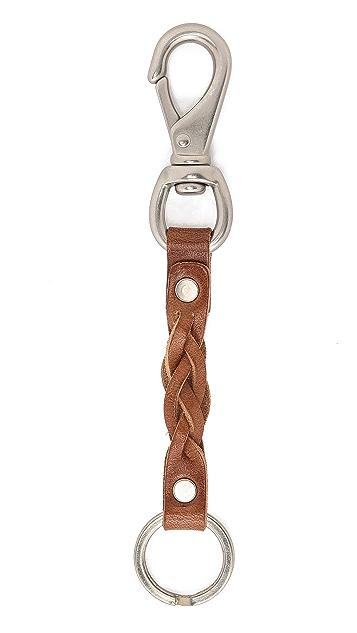 Billykirk Braided Leather Keychain