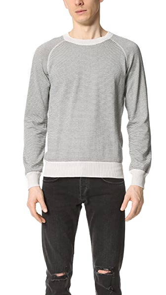 Billy Reid Stripe Crew Sweater