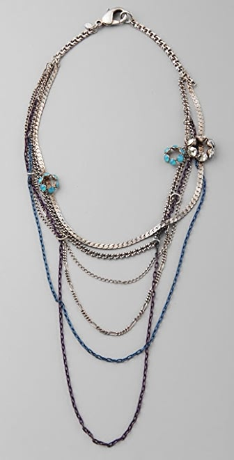 Bing Bang Crystal Mixed Chain Necklace