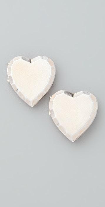 Bing Bang Heart Locket Button Earrings