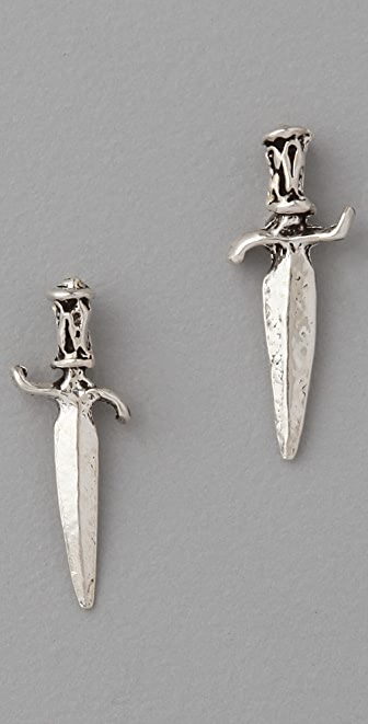 Bing Bang Dagger Stud Earrings