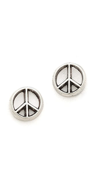 Bing Bang Mini Peace Sign Studs