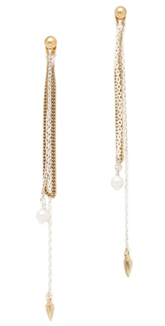Bing Bang Bullet Front to Back Earrings