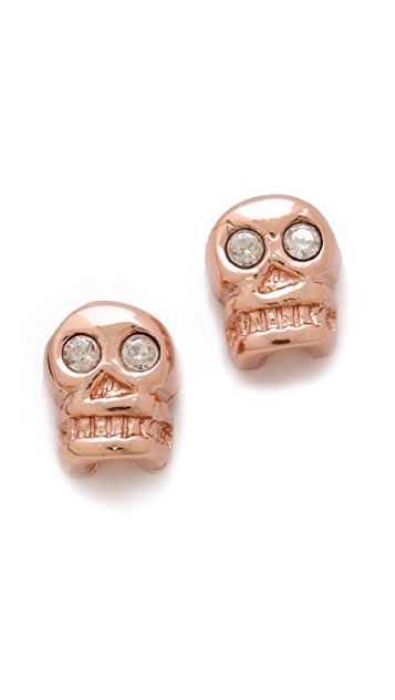 Bing Bang Skull Stud Earrings