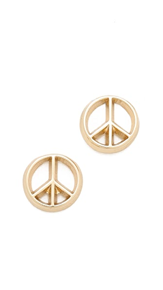 Bing Bang Peace Sign Stud Earrings