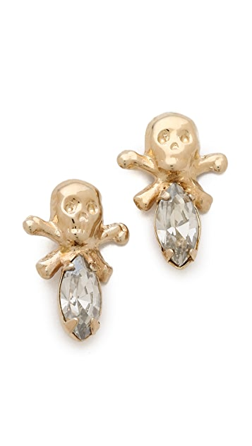 Bing Bang Memento Mori Skull Stud Earrings