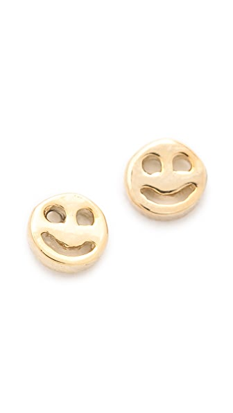 Bing Bang Smiley Face Stud Earrings