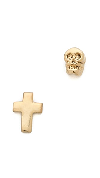 Bing Bang Memento Mori Duet Earrings